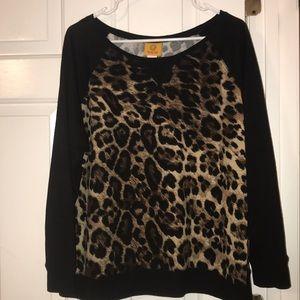 Ruby Rd Sweat Shirt in Animal Print XL